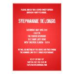 5x7 Red DJ Spin Turntable 16 Birthday Invitation