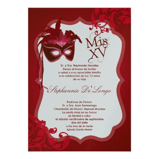 Mis Quince Photo Invitation | LONG HAIRSTYLES