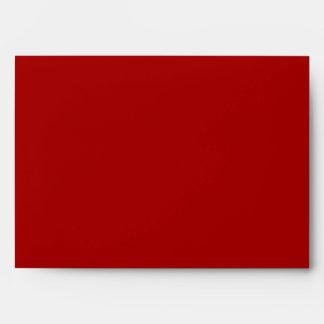 5x7 Red Outside Polka Dot Inside Envelope