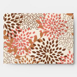 5x7 rosa y Brown del sobre Option1 florales