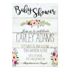 5x7 Rustic Adorned with Floral Baby Shower Invite