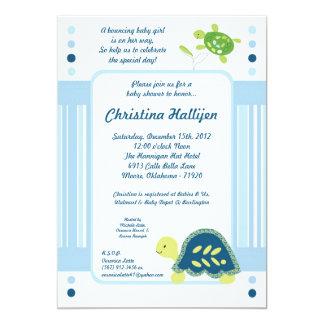 5x7 Sea Turtle Reef Ocean Baby Shower Invitation