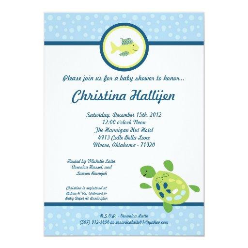 5x7 sea turtle reef ocean baby shower invitation zazzle