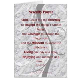 5x7 Serenity Prayer Card
