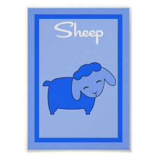 5X7 Sheep Barn Yard Boys Wall Art Poster