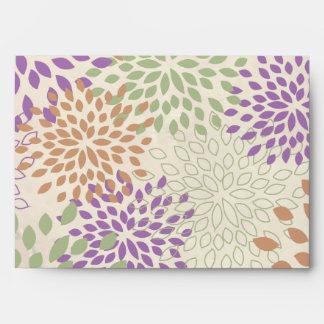 5x7 sobre floral púrpura y verde de Option1