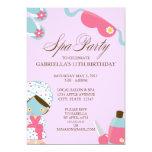 """5x7 Spa Party Birthday Party Invitation 5"""" X 7"""" Invitation Card"""