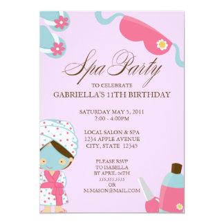 5x7 Spa Party Birthday Party Invitation