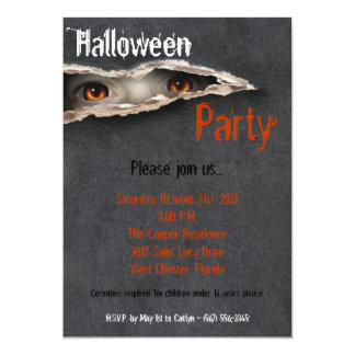 5x7 Spooky Eyes Stare Halloween Costume Invitation