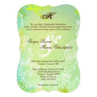 5x7 Spring Hibiscus Flower Wedding Invitation