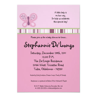 5x7 Sugar Plum Baby Shower Invitation
