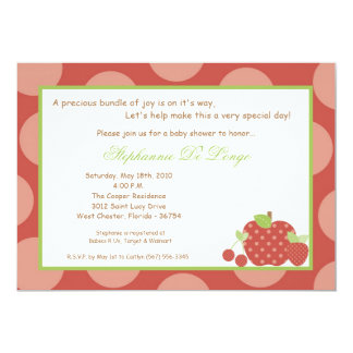 5x7 Summer Time Fresh Fruit Baby Shower Invitation