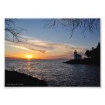 5X7 Sunset at Lime Kiln Pt State Park Photo Print