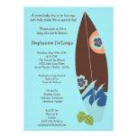 5x7 Surfer Baby Surf Boards Baby Shower Invitation Custom Invite