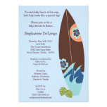 5x7 Surfer Baby Surf Boards Baby Shower Invitation Announcement