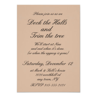 5x7 Tree Trimming Party invitaion with envelope Card