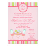 "5x7 Trendy Chic Tea Party Baby Shower Invitation 5"" X 7"" Invitation Card"