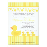 "5x7 TRIPLETS Rubber Duck Baby Shower Invitation 5"" X 7"" Invitation Card"