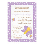 5x7 TWINS Purple Butterfly Baby Shower Invitation