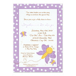 5x7 TWINS Purple Butterfly Baby Shower Invitation