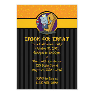 5x7 Vampire Coffin Halloween Party Invitations