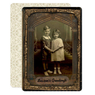 5x7 Vintage Photo Frame & Personalized Greeting Card