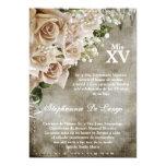 "5x7 Vintage Roses Quinceanera Birthday Invitation 5"" X 7"" Invitation Card"