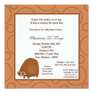 5x7 Warthog Pok-a-Dot Baby Shower Card