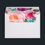 """5x7 Watercolor Purple Pink Floral Liner Decor Envelope<br><div class=""""desc"""">================= ABOUT THIS DESIGN ================= 5x7 Watercolor Purple Pink Floral Liner Decor Envelope. (1) For further customization, please click the &quot;Customize&quot; button and use our design tool to modify this template. All text style, colors, sizes can be modified to fit your needs. (2) If you need help or matching items,...</div>"""