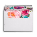 5x7 Watercolor Purple Pink Floral Liner Decor Envelope<br><div class='desc'>================= ABOUT THIS DESIGN ================= 5x7 Watercolor Purple Pink Floral Liner Decor Envelope. (1) For further customization, please click the &quot;Customize&quot; button and use our design tool to modify this template. All text style, colors, sizes can be modified to fit your needs. (2) If you need help or matching items,...</div>
