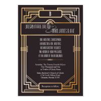 5x7 Wedding Invitation Gatsby Theme
