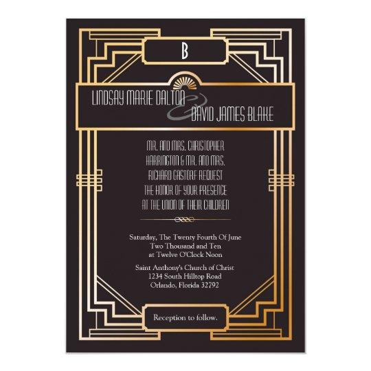 Www Zazzle Com Wedding Invitations: 5x7 Wedding Invitation Gatsby Theme