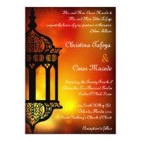 5x7 Wedding Invitation Moroccan Lantern Indian