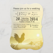 5x7 Wedding Invitation Sunny Morning Farm Country
