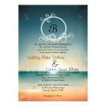 5x7 Wedding Invitation Sunset Beach