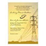 5x7 Wedding Invitation Sunset Powerlines
