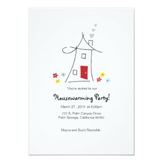 5x7 Whimsical Housewarming Party Card