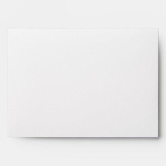 5x7 White Outside Black Inside Envelope
