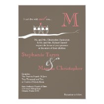 5x7 With Owl You Woodland Hoot Wedding Invitation