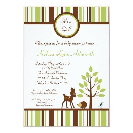 5x7 woodland forest deer baby shower invitation zazzle