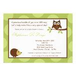 5x7 Woodland Forest Owl Baby Shower Invitation Custom Invitation