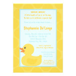 5x7 Yellow Rubber Ducky Duc Baby Shower Invitation