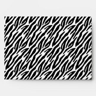 5x7 Zebra Print Outside Light Pink Inside Envelope