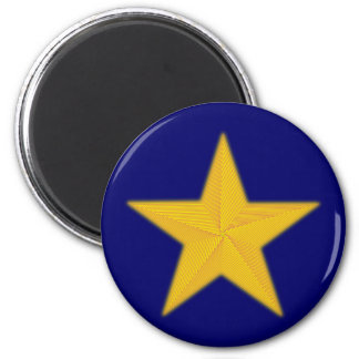 5zackiger star Pentagon pentacle 2 Inch Round Magnet