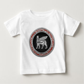 [600] Babylonian Winged Bull [Silver] [3D] Baby T-Shirt