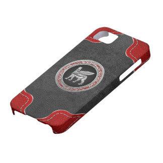 [600] Babylonian Winged Bull [Silver] [3D] iPhone SE/5/5s Case