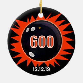 600 Bowling Series Ceramic Ornament