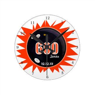 600 Bowling Series Round Clock