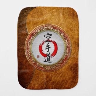 [600] Caligrafía japonesa - Karate-haga Paños De Bebé
