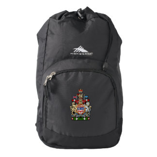 [600] Canada Coat of Arms [3D] High Sierra Backpack